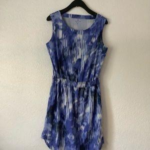 Athleta Blue and white midi dress